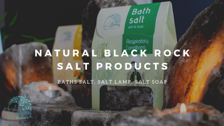 New Black Rock Salt Products from Carpathian Mountains in Transylvania
